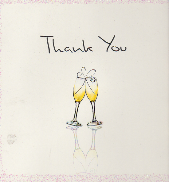 Justin & Emma thank you card