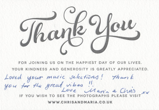 Chris & Maria card back