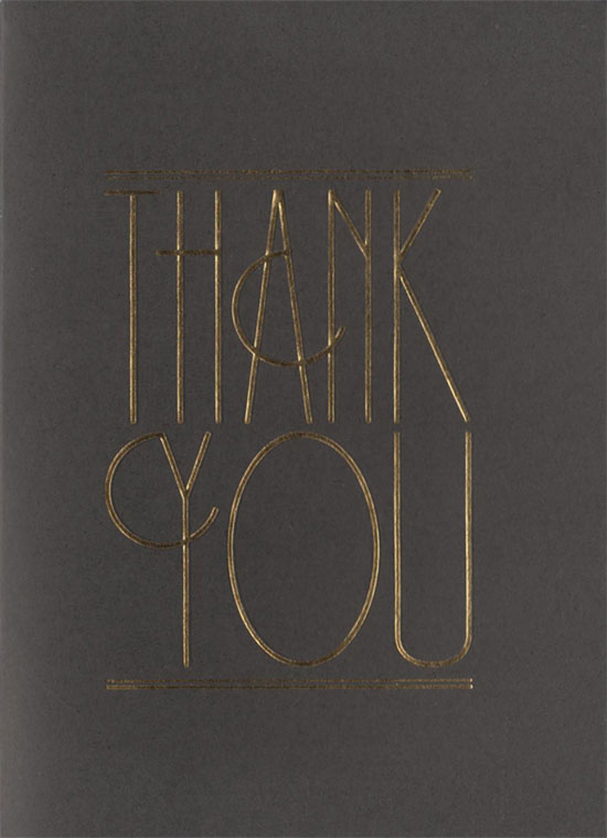 Emma & Matt thank you card front