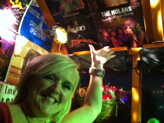 Bernie Nolan in the shed!