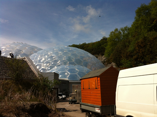 Arriving at the Eden Project