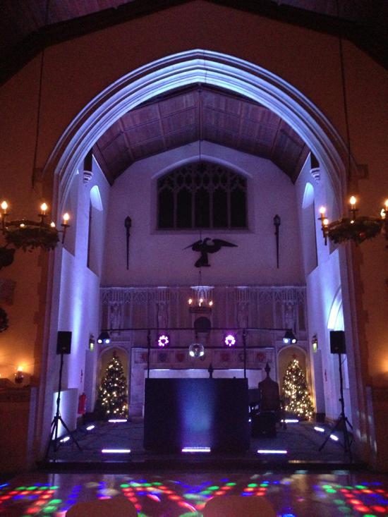 Hanbury Manor uplighting