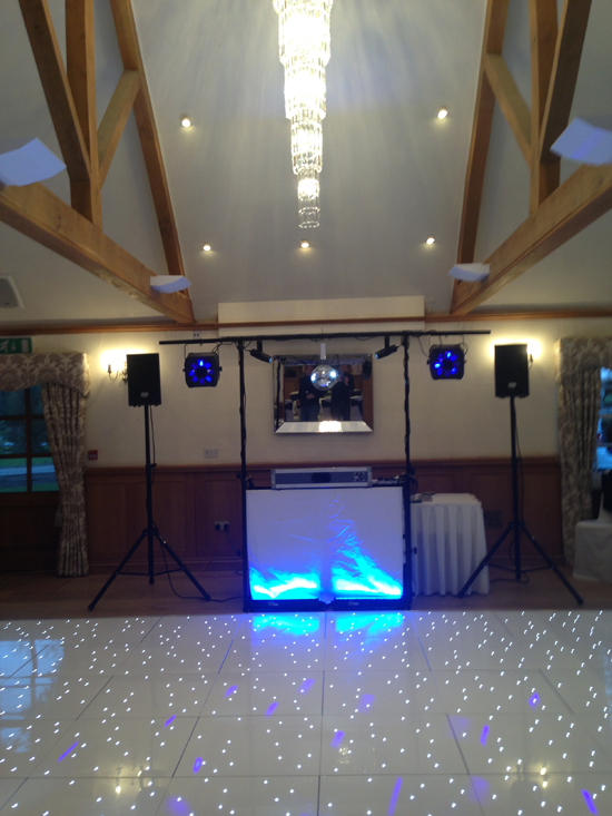 Disco Wed DJ set-up 1