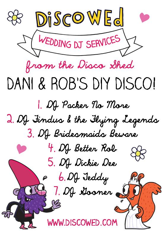 DIY disco running order