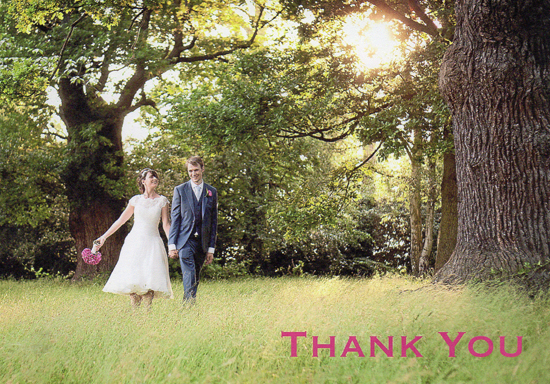 Matt & Sam thank you card