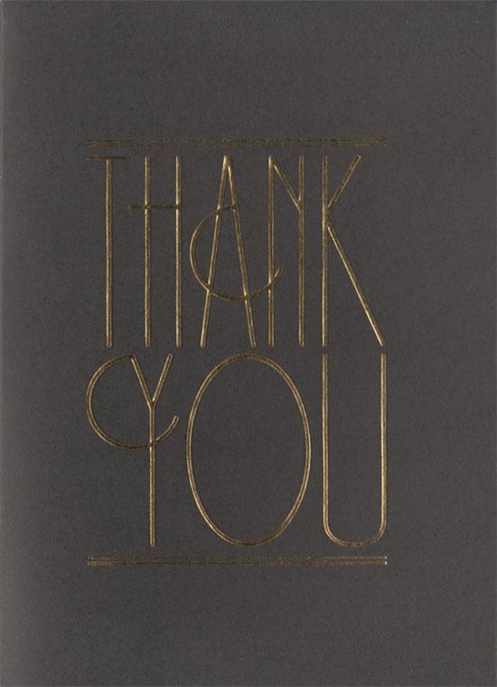 Emma & Matt thank you card front